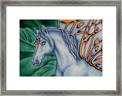 Faery Horse Star Fyre Framed Print by Beth Clark-McDonal