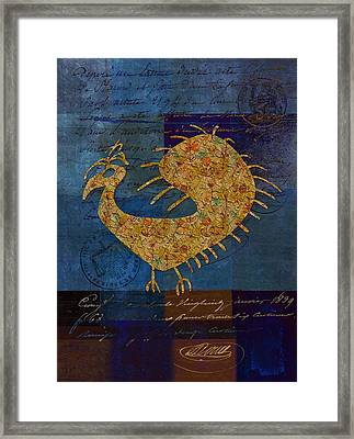Fafa Bird - 01c04ab Framed Print by Variance Collections