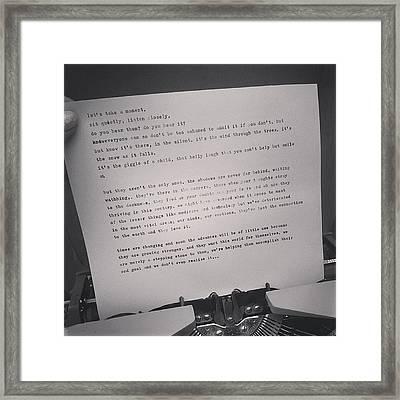 Faffing Around On My Typewriter (i Have Framed Print