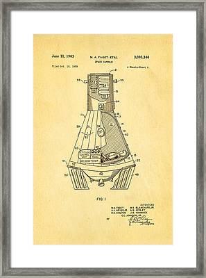 Faget Space Capsule Patent Art 1963 Framed Print