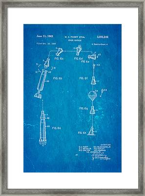 Faget Space Capsule Patent Art 2 1963 Blueprint Framed Print by Ian Monk