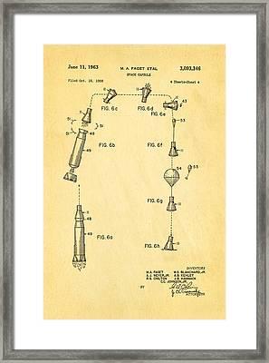 Faget Space Capsule Patent Art 2 1963 Framed Print