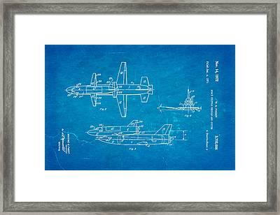 Faget Space Shuttle Vehicle 2 Patent Art 1972 Blueprint Framed Print by Ian Monk