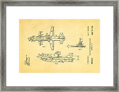 Faget Space Shuttle Vehicle 2 Patent Art 1972 Framed Print by Ian Monk