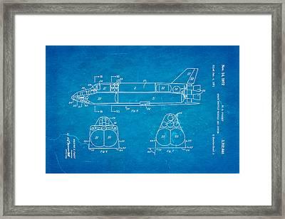 Faget Space Shuttle Vehicle 3 Patent Art 1972 Blueprint Framed Print by Ian Monk