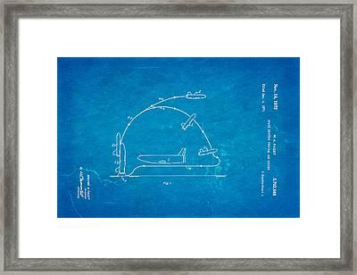 Faget Space Shuttle Vehicle Patent Art 1972 Blueprint Framed Print by Ian Monk