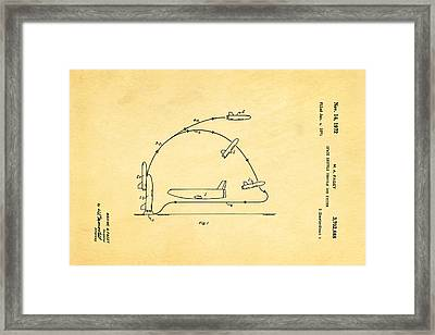 Faget Space Shuttle Vehicle Patent Art 1972 Framed Print by Ian Monk