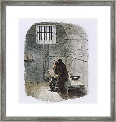Fagin In Prison Framed Print by British Library