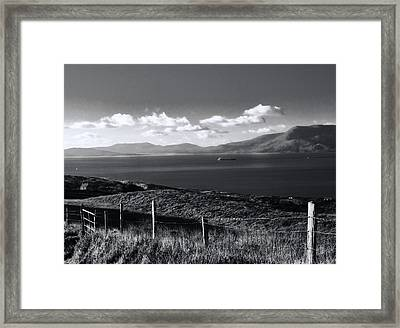 Fahane In Black And White Framed Print