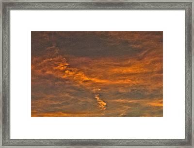 Faint Clouds Framed Print by Marquis Crumpton