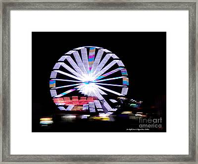 Fair Night Ferris Framed Print by Megan Dirsa-DuBois