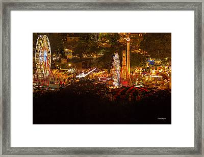 Fair Time In Paso Robles Framed Print