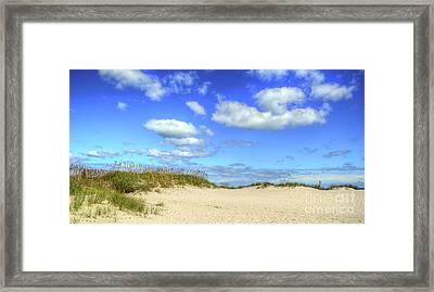 Fair Weather Along The Beach Framed Print