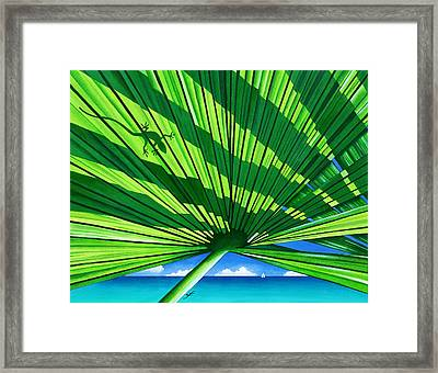 Fair Weather Fronds Framed Print by Carolyn Steele