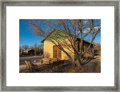 Framed Print featuring the photograph Fairbank Schoolhouse by Beverly Parks
