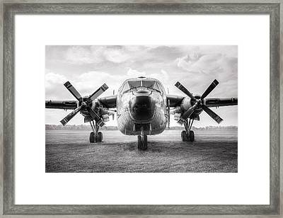 Framed Print featuring the photograph Fairchild C-119 Flying Boxcar - Military Transport by Gary Heller