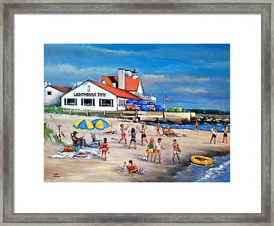 Fairchild Clan' Cape Cod Beach Framed Print