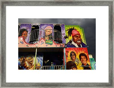 Fairground Fun Sideshow Color Framed Print by Bob Christopher