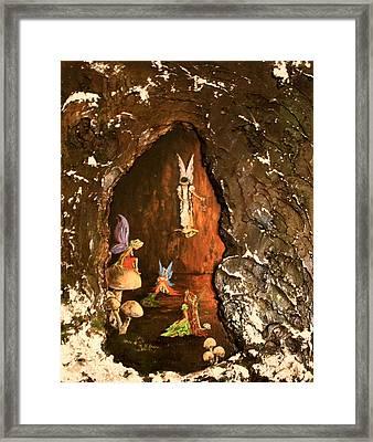 Fairies Abode Framed Print by Jean Walker