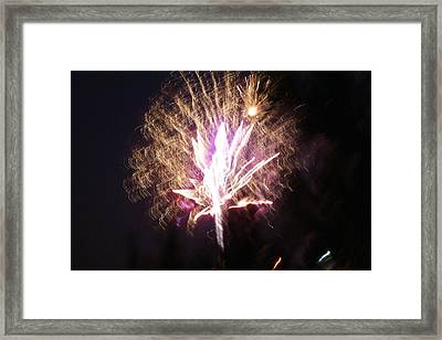Fairies In The Fireworks I Framed Print by Jacqueline Russell