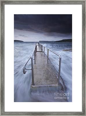 Fairlight Tidal Pool Framed Print by Donald Goldney
