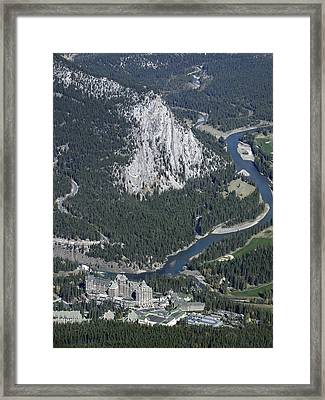 Fairmont Banff Springs Hotel And Golf Course Framed Print by Daniel Hagerman
