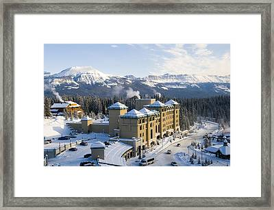 Fairmont Chateau Lake Louise Framed Print