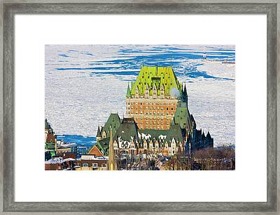 Fairmont Le Chateau Frontenac By St Framed Print by Keren Su