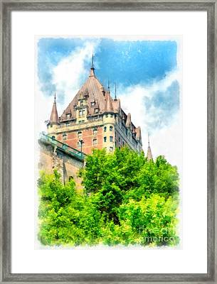 Fairmont Le Chateau Frontenac Framed Print by Edward Fielding