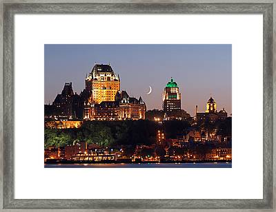 Fairmont Le Chateau Frontenac Framed Print by Juergen Roth