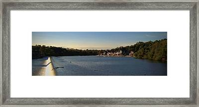 Fairmount Dam And Boathouse Row Framed Print by Photographic Arts And Design Studio