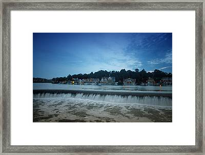 Fairmount Dam In Front Of Boathouse Row Framed Print