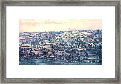 Fairmount Park Philadelphia 1876 Framed Print by Padre Art