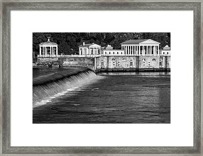 Fairmount Water Works Park Bw Framed Print