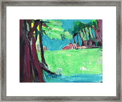 Fairway In Early Spring Framed Print