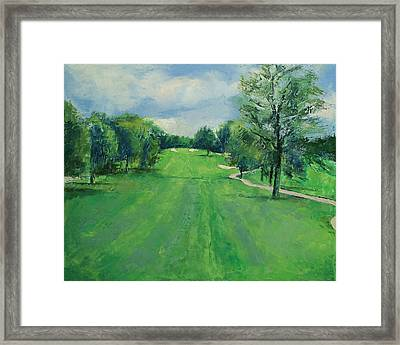 Fairway To The 11th Hole Framed Print by Michael Creese