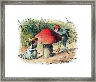 Fairy And Elf-legendary Creatures Framed Print by Photo Researchers