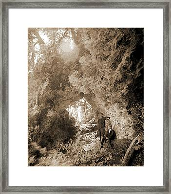 Fairy Arch, Mackinac Island, Mich, Rock Formations Framed Print