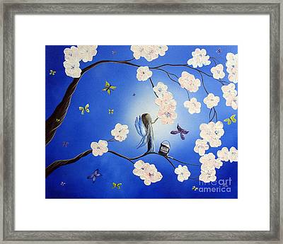 Fairy Blossoms By Shawna Erback Framed Print by Shawna Erback