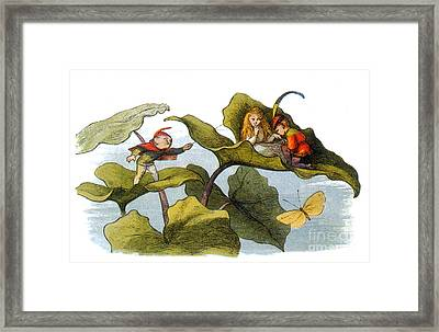Fairy Courtship Cut Short Framed Print by Photo Researchers