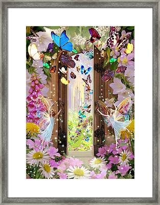 Fairy Door Framed Print