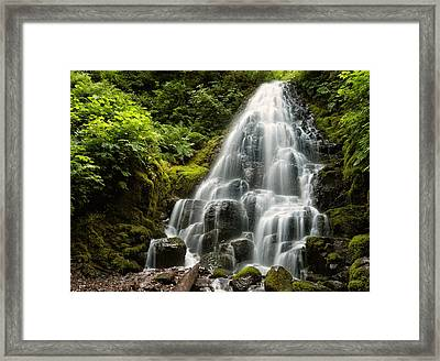 Framed Print featuring the photograph Fairy Falls by Brian Bonham