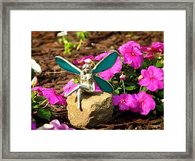 Fairy Garden Framed Print by Andrea Dale