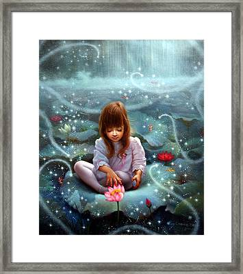 Girl And The Seven Fairy 3 Framed Print