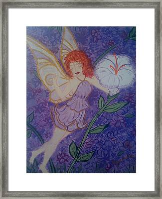 Framed Print featuring the painting Fairy Harmony  by Judi Goodwin