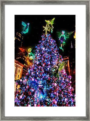 Fairy Holiday Tree Framed Print by Chris Lord