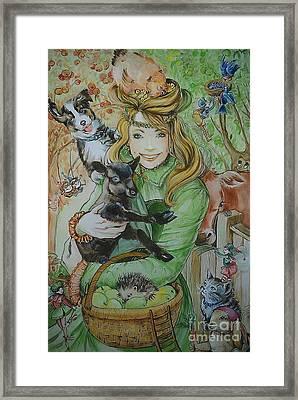 Fairy Hoppert Framed Print by Ottilia Zakany