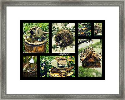 Fairy Houses Framed Print by Laurie Perry
