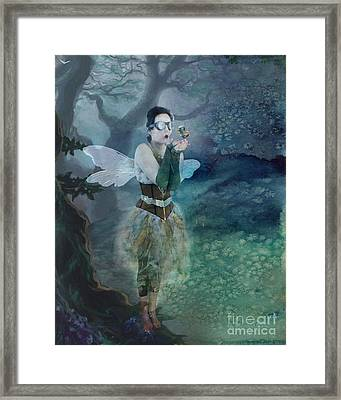 Fairy In The Woods Framed Print by Juli Scalzi