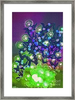 Fairy Light Garden Green By Jrr Framed Print by First Star Art